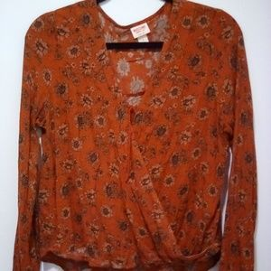 Mossimo Supply Co. Boho Cross Front Top Size L